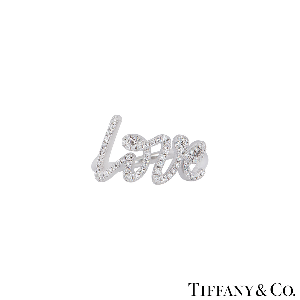 Tiffany & Co. White Gold Diamond Paloma Picasso Love Ring